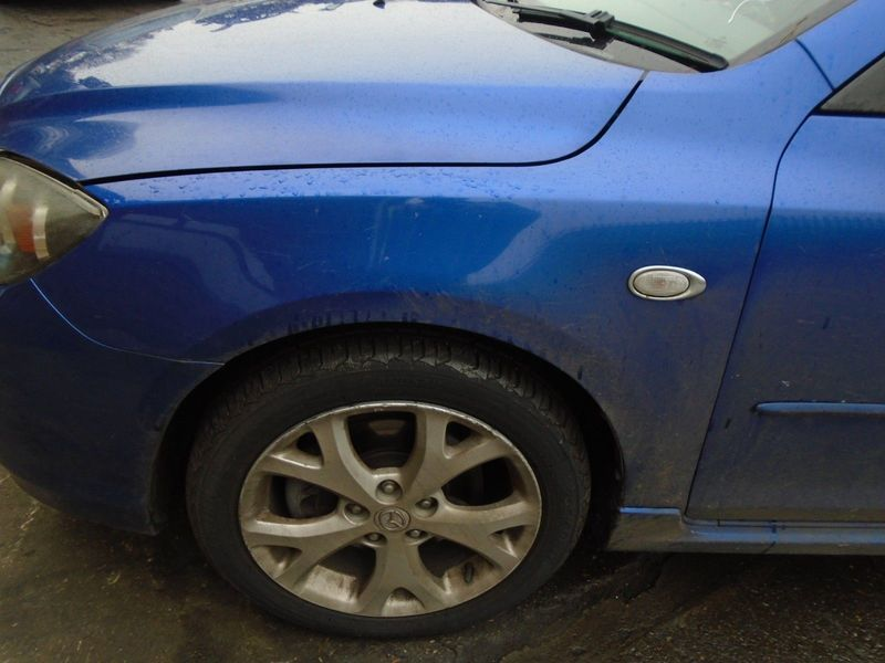 07 MAZDA-3 BK SPORT NEARSIDE FRONT BARE WING PANEL-BLUE 34J 07-09 BREAKING CAR