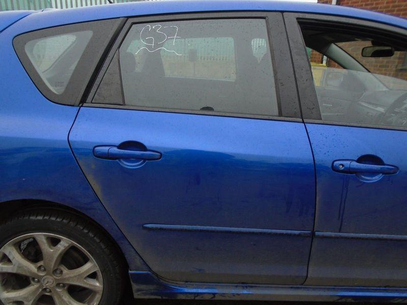 07 MAZDA-3 BK SPORT OFFSIDE REAR BARE DOOR-BLUE 34J 03-09 BREAKING CAR