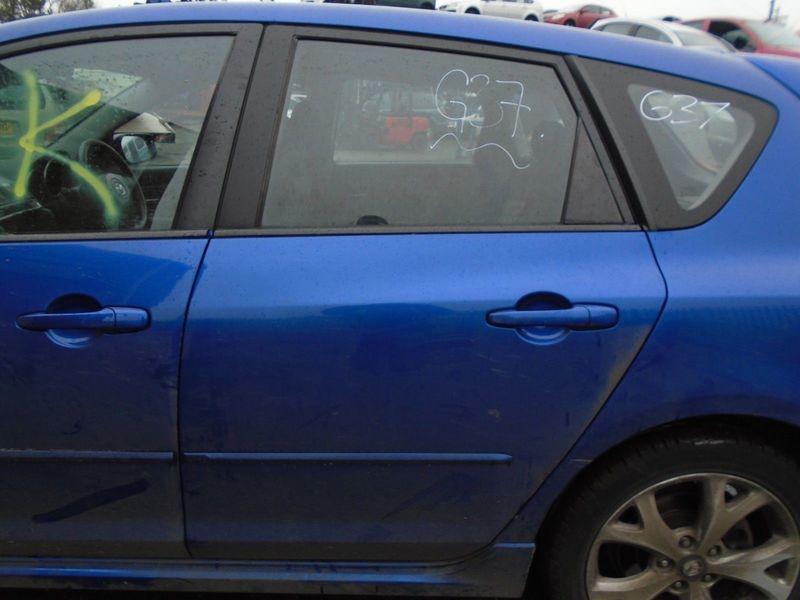 07 MAZDA-3 BK SPORT NEARSIDE REAR BARE DOOR-BLUE 34J 03-09 BREAKING CAR