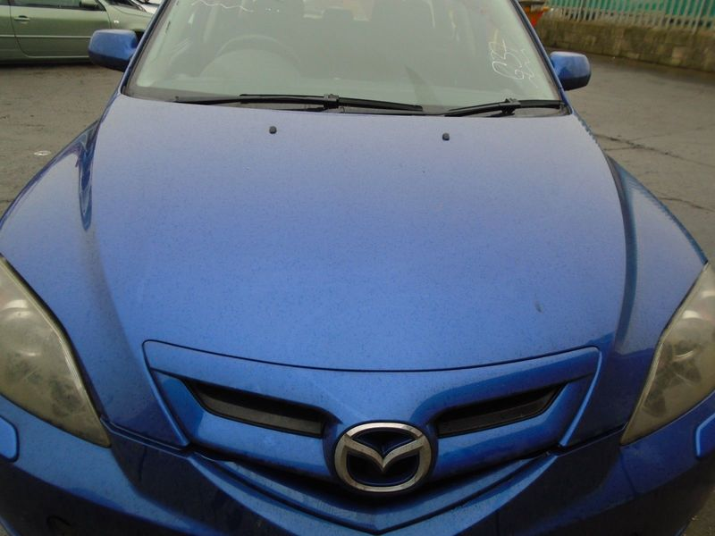 07 MAZDA-3 BK SPORT BARE BONNET PANEL-BLUE 34J 03-09 BREAKING CAR