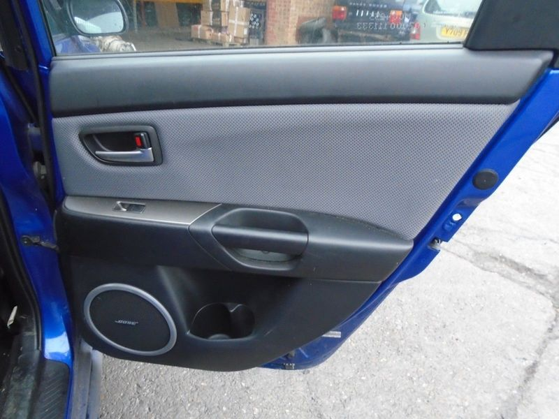 07 MAZDA-3 BK 2.0 TD SPORT OFFSIDE REAR BARE DOOR CARD PANEL 03-09 BREAKING