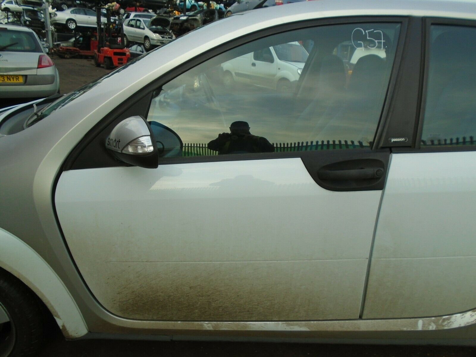 05 Smart For Four 454 Passion Nearside Front Bare Door White 04 06