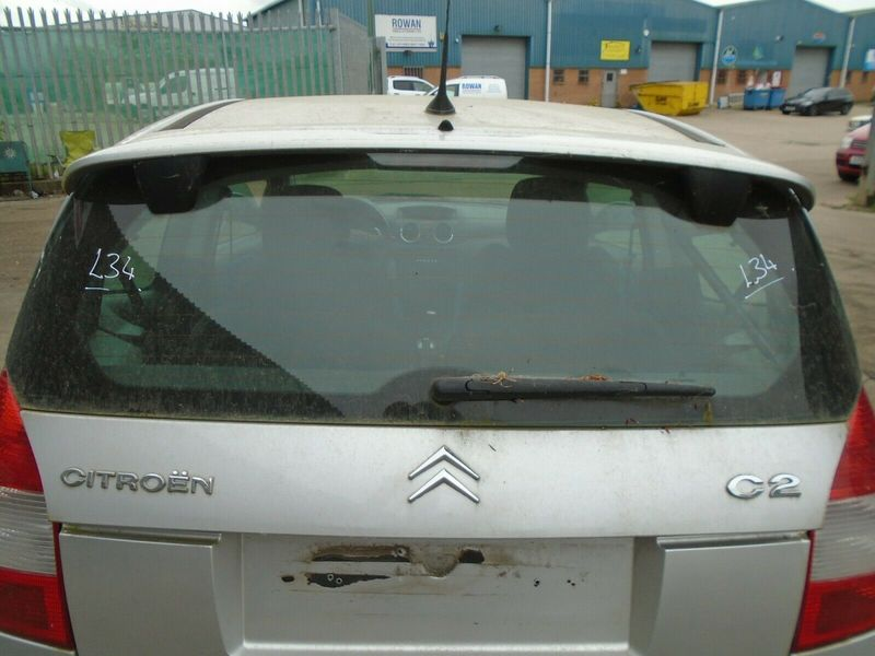 2007 CITROEN C2 1.6 VTR BARE UPPER TAILGATE-SILVER 03-09 BREAKING CAR