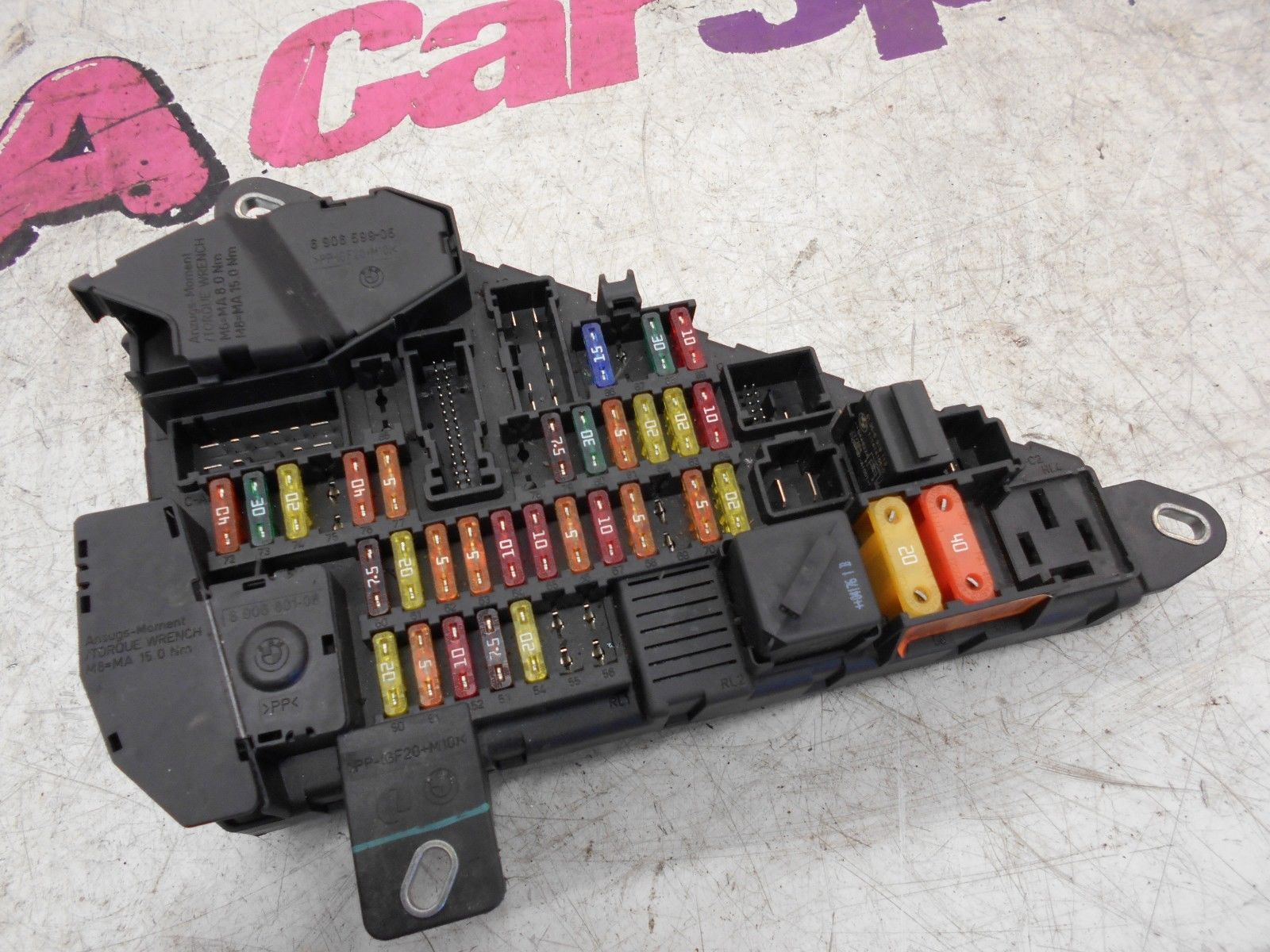BMW 6 SERIES E63 E64 645 FUSE BOX / RELAY BOX 2004-2006